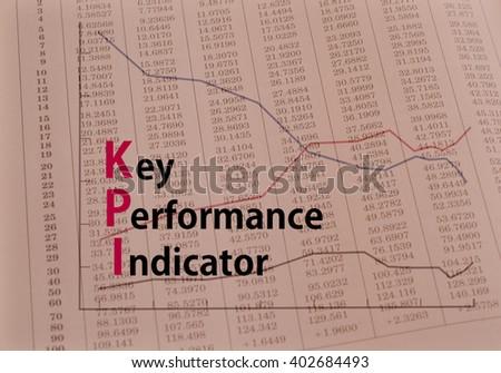 Acronym KPI - Key Performance Indicator - stock photo