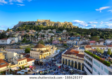 Acropolis in Athens,Greece  - stock photo