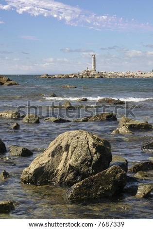 Across the Bay in San Pedro - stock photo