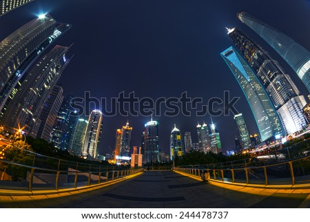 across the Huangpu river from the city - stock photo