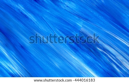 Acrylic brush stroke background, texture. Grunge paper. Ocean water or sky, maritime theme. Backdrop for scrapbook elements with space for text. - stock photo
