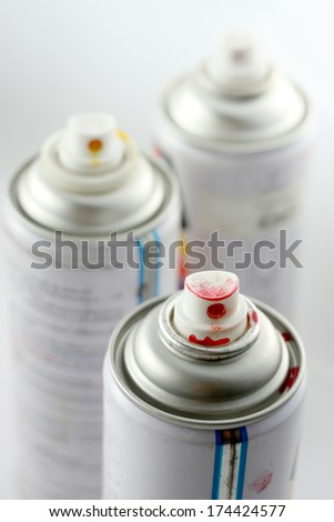 Acrylic lacquer spray - stock photo