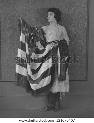 Act of patriotism - stock photo