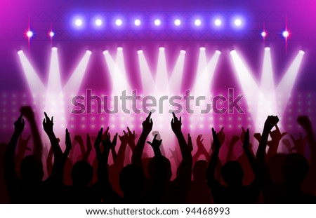 action in concert - stock photo