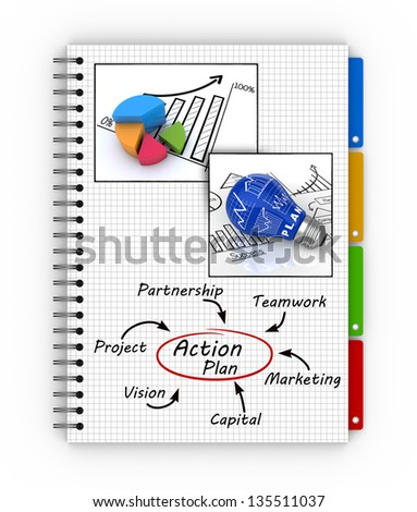 Action planning concept - stock photo