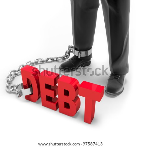 Active debt - stock photo