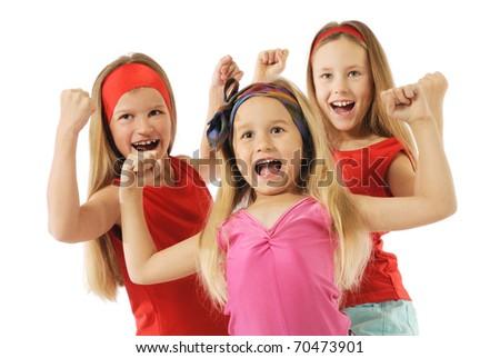 Active girls - stock photo