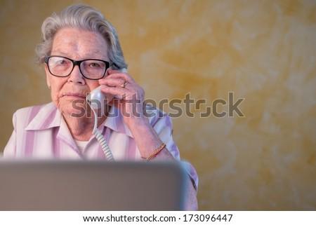 active grandma - stock photo