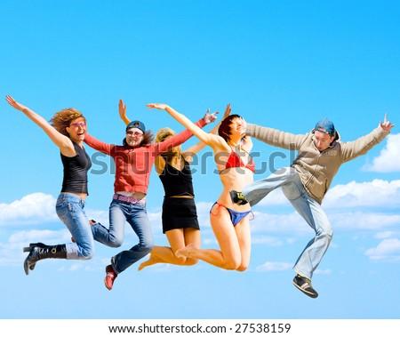 Active, optimistic people! - stock photo