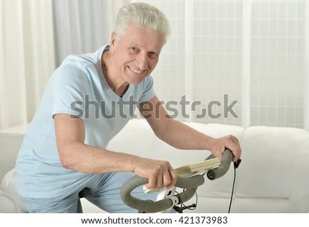 active senior man - stock photo
