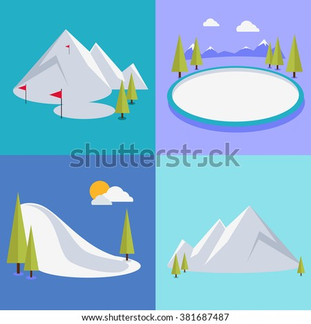 Active winter vacation extreme sports. Sledding and sking, skating and mountain, snow and recreation, travel outdoor, cold and holiday, snowboarder athlete. Extreme sport, sledding, sking, skating - stock photo