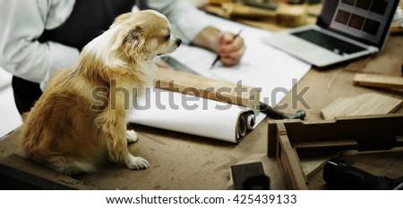 Activity Carpentry Expertise Craftsmanship Design Concept - stock photo