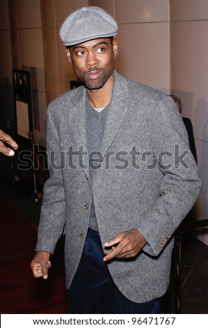 Actor CHRIS ROCK at the Los Angeles premiere of Match Point. December 8, 2005  Los Angeles, CA.  2005 Paul Smith / Featureflash - stock photo