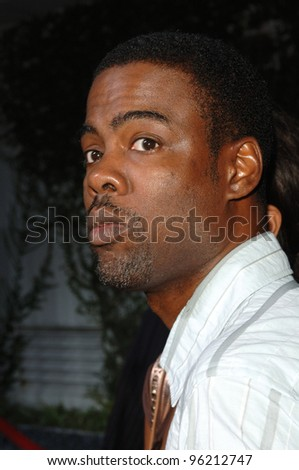 Actor/comedian CHRIS ROCK at the Los Angeles premiere of Hustle & Flow at the Cinerama Dome, Hollywood. July 20, 2005  Los Angeles, CA  2005 Paul Smith / Featureflash - stock photo