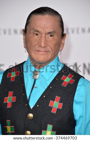 "Actor Duane Howard at the Los Angeles premiere of his movie ""The Revenant"" at the TCL Chinese Theatre, Hollywood. 