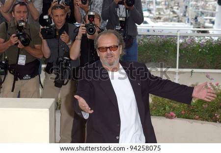 Actor JACK NICHOLSON at the Cannes Film Festival to promote his new movie About Schmidt, which is in competition. 22MAY2002.   Paul Smith / Featureflash - stock photo