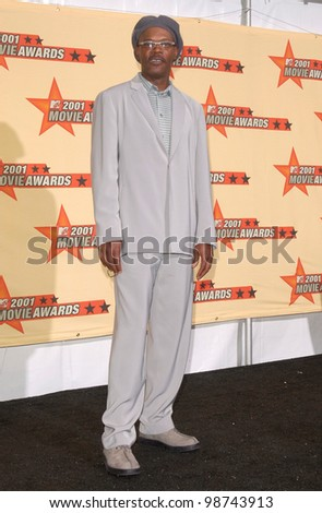 Actor SAMUEL L. JACKSON at the MTV Movie Awards in Los Angeles.  02JUN2001. - stock photo