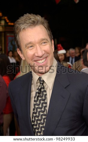 Actor TIM ALLEN at the world premiere of his new movie The Santa Clause 2, at the El Capitan Theatre, Hollywood. 27OCT2002.   Paul Smith / Featureflash - stock photo