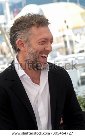 Actor Vincent Cassel attend the 'Mon Roi' photocall during the 68th annual Cannes Film Festival on May 17, 2015 in Cannes, France. - stock photo