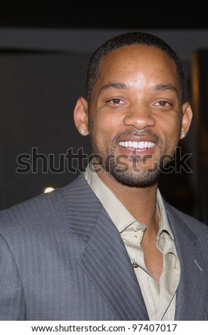 Actor WILL SMITH at the world premiere, in Los Angeles, of The Matrix Revolutions. October 27, 2003  Paul Smith / Featureflash - stock photo
