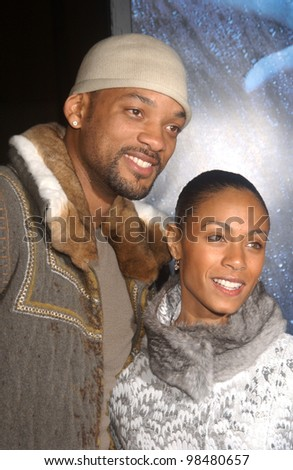 Actor WILL SMITH & wife actress JADA PINKETT-SMITH at the world premiere, in Los Angeles, of Gothika. November 13, 2003  Paul Smith / Featureflash - stock photo