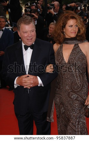 "Actor WILLIAM SHATNER & date at the gala screening of ""Over the Hedge"" at the 59th Annual International Film Festival de Cannes. May 17, 2006  Cannes, France.  2006 Paul Smith / Featureflash - stock photo"