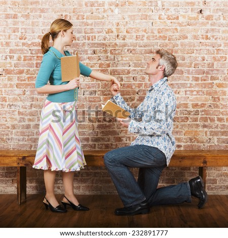 Actors Practicing Their Roles - stock photo