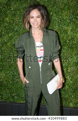 Actress Allison Sarofim attends the 11th Annual Chanel Tribeca Film Festival Artists Dinner at Balthazar on April 18, 2016 in New York City. - stock photo