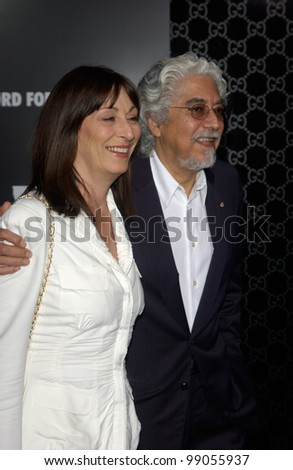Actress ANJELICA HUSTON & husband ROBERT GRAHAM at the Rodeo Drive Walk of Style Gala honoring Gucci's Tom Ford. March 28, 2004 - stock photo