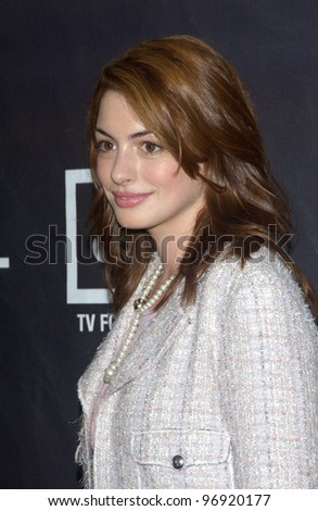 Actress ANNE HATHAWAY at the Premiere magazine 11th Annual Women in Hollywood Luncheon at the Four Seasons Hotel, Beverly Hills. September 14, 2004 - stock photo