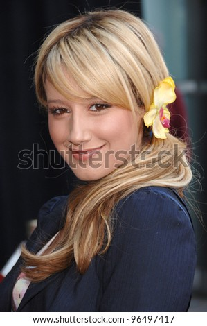 Actress ASHLEY TISDALE at the world premiere, in Hollywood, of the animated movie Curious George. January 28, 2006  Los Angeles, CA  2006 Paul Smith / Featureflash - stock photo