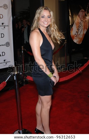 Actress BECKY BOXER at the world premiere, in Hollywood, of her new movie Jarhead. October 27, 2005  Los Angeles, CA.  2005 Paul Smith / Featureflash - stock photo