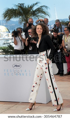 Actress Chrystele Sant Louis Augustin attend the 'Mon Roi' photocall during the 68th annual Cannes Film Festival on May 17, 2015 in Cannes, France. - stock photo