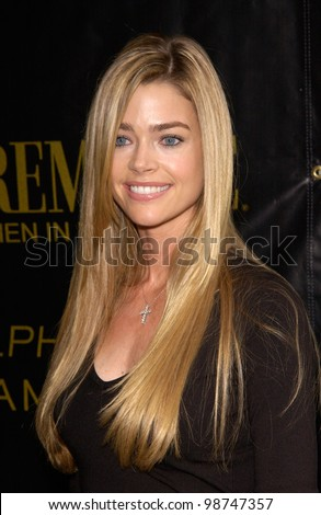Actress DENISE RICHARDS at Premiere Magazine's Women in Hollywood luncheon at the Four Seasons Hotel, Beverly Hills. 22OCT2001.   Paul Smith/Featureflash - stock photo
