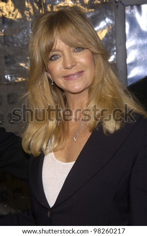 Actress GOLDIE HAWN at the world premiere, in Hollywood, of Dark Blue. 12FEB2003.   Paul Smith / Featureflash - stock photo