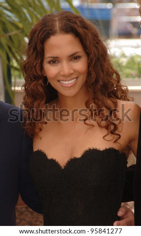 """Actress HALLE BERRY at the photocall for """"X-Men 3: The Last Stand"""" at the 59th Annual International Film Festival de Cannes. May 17, 2006  Cannes, France.  2006 Paul Smith / Featureflash - stock photo"""