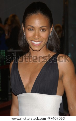 Actress JADA PINKETT SMITH at the world premiere, in Los Angeles, of her new movie The Matrix Revolutions. October 27, 2003  Paul Smith / Featureflash - stock photo