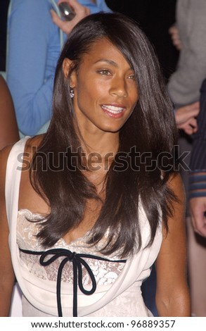 Actress JADA PINKETT-SMITH at the world premiere, in Los Angeles, of I, Robot. July 7, 2004 - stock photo