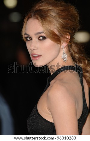 Actress KEIRA KNIGHTLEY at the Los Angeles premiere of her new movie Domino.  October 11, 2005 Los Angeles, CA.  2005 Paul Smith / Featureflash - stock photo