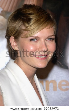 Kirsten Dunst Eternal Sunshine Of The Spotless Mind Actress KIRSTEN DUNST at the