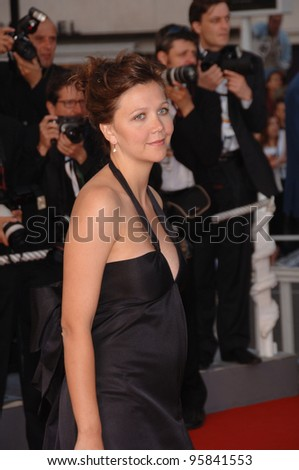 "Actress MAGGIE GYLLENHAAL at the gala screening for ""Paris Je T'Aime"" at the 59th Annual International Film Festival de Cannes. May 17, 2006  Cannes, France.  2006 Paul Smith / Featureflash - stock photo"