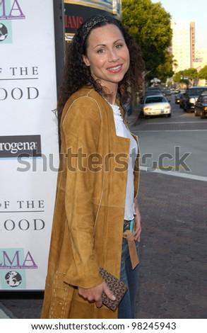 Actress MINNIE DRIVER at the Los Angeles premiere of Divine Secrets of the Ya-Ya Sisterhood. 03JUN2002.   Paul Smith / Featureflash - stock photo