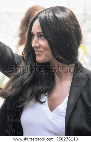 Actress Monica Bellucci at the Palace of the Cinema during the 68th Venice Film Festival on September, 2011 in Venice, Italy. - stock photo