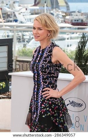 Actress Naomi Watts attend the The Sea of Trees photocall during the 68th annual Cannes Film Festival on May 16, 2015 in Cannes, France. - stock photo