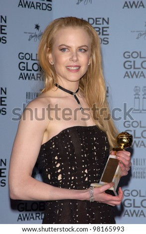 Actress NICOLE KIDMAN at the 59th Annual Golden Globe Awards in Beverly Hills. 20JAN2002  Paul Smith/Featureflash - stock photo
