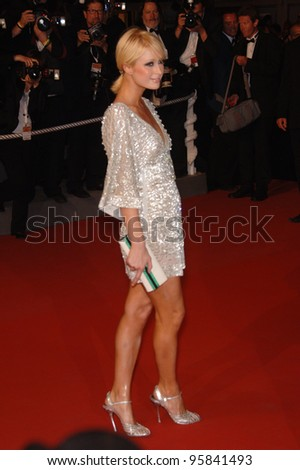 """Actress PARIS HILTON at the gala premiere of """"X-Men 3: The Last Stand"""" at the 59th Annual International Film Festival de Cannes. May 17, 2006  Cannes, France.  2006 Paul Smith / Featureflash - stock photo"""
