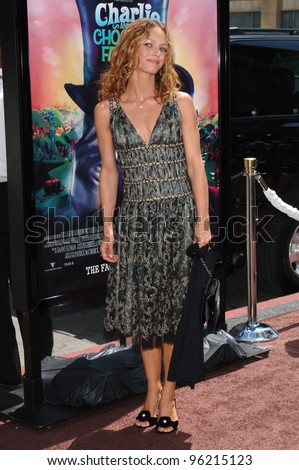 Actress VANESSA PARADIS at the world premiere, in Hollywood, of her husband Johnny Depp's new movie Charlie and the Chocolate Factory. July 10, 2005 Los Angeles, CA  2005 Paul Smith / Featureflash - stock photo
