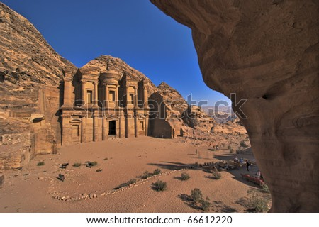Ad-Deir, The Monastery. Petra, Jordan - stock photo