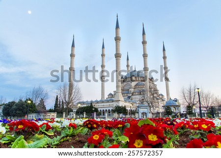 adana central mosque - stock photo
