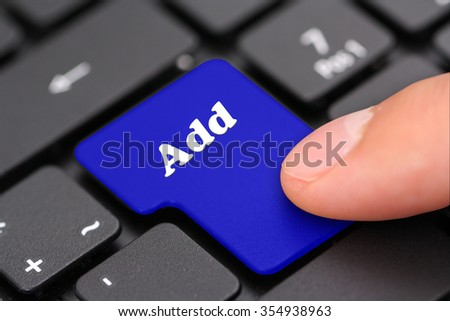 Add - stock photo